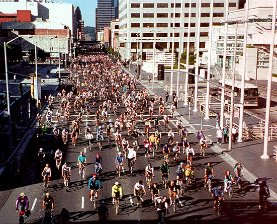 Critical Mass in San Francisco in 1996