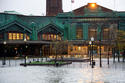 Sandy flooding Hoboken train station