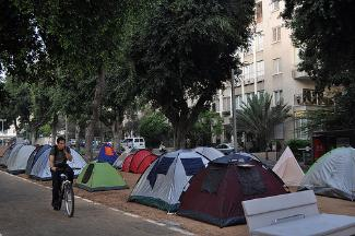 Tent city protest in Tel Aviv.