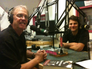 Author Larry Colton & Greg Netzer, Executive Director of Wordstock