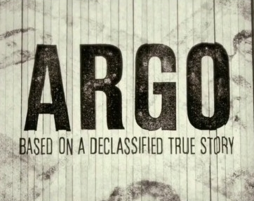 Argo: based on a declassified true story (text on shredded paper)