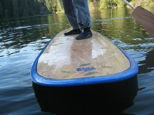 photo, feet on a board