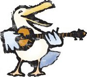 Pete Seagull, the mascot of the Vancouver Folk Festival