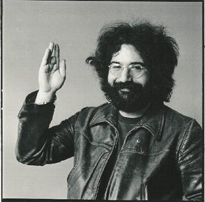 Jerry Garcia waving.