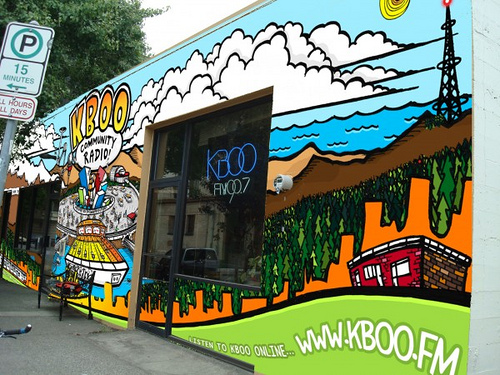 KBOO Community Radio building, photo & design by KMF Illustration