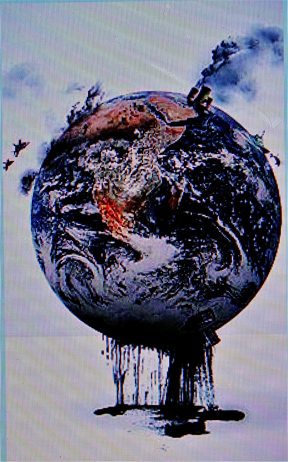 Planet earth dripping oil....