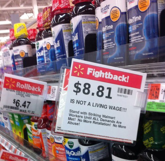 Fight Back against Walmart: shelf tag for better working life