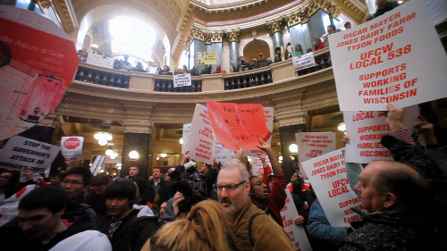 Wisconsin teachers take over state capitol