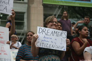 Save DACA Rally, photo by Joe Frazier, all rights reserved.