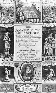 Frontispiece to the anatomy of melancholy (1638)