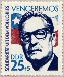 East German Stamp showing Salvador Allende