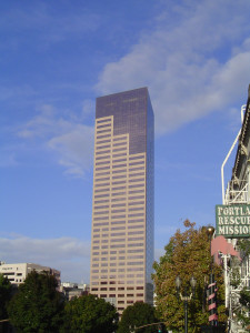 Bancorp Tower, a symbol of successful entrepreneurship in Portland (Source: Wikimedia Commons)