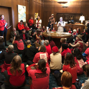 Sit-in Governor Kate Brown's office 11-21-2019