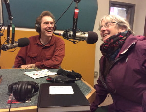 Animator Gail Noonan visits KBOO and adds an illustration to the Words and Pictures guest book