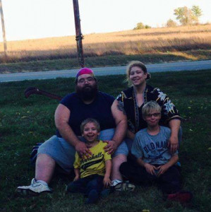 Homer Wilson, Jennifer Hess, and their two children - photo used by permission of Ms. Hess