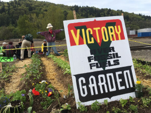 Victory Over Fossil Fuels Garden