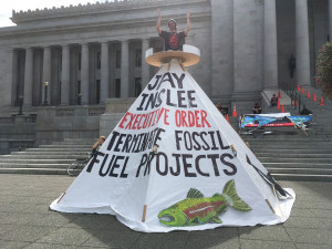 Rally at WA Capitol Tarpee