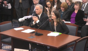 IN State Senator James Merritt and Madison Weintraut testifying before the IN Senate Committee on Health and Provider Services in support of SB207.