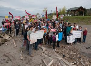 Kalama Longview no coal protest