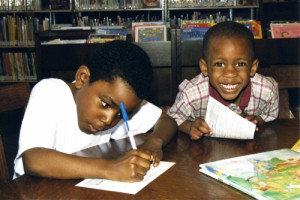 Kids at library