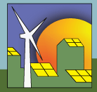 cartoon of  wind and solar power