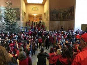 Jordan Cove Protest Inside Oregon State Capitol Rotunda 11/21/2019