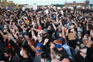 Anti-racism protest in Waterfront Park June 4, 2020