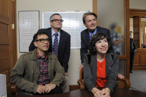 Portlandia producer David Cress and Sleater-Kinney's Janet Weiss join S.W. Conser in the KBOO studios