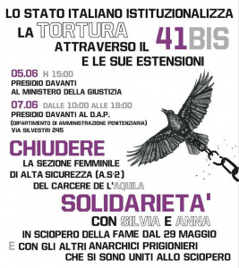 A flyer announcing demonstrations in Rome