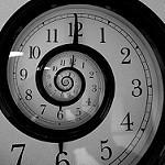 Spiral shaped clock face