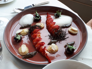 plate of lobster tails