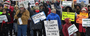 Union Protest - Repubs are Puppets of the Corporate Elite