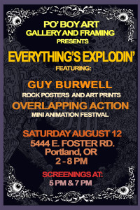 The Overlapping Action Animation Mini-Festival is brought to Portland by Ben Chapin, featured on KBOO Radio's Words and Pictures