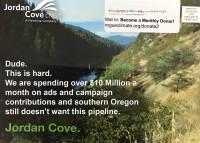 Spoof on Jordan Cove propaganda
