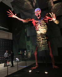 A giant stop-motion skeleton is part of the Laika Animation exhibition at the Portland Art Museum on KBOO's Words and Pictures