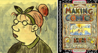 Comics artist and MacArthur Genius Grant recipient Lynda Barry talks at Powell's City of Books for Words and Pictures with S.W. Conser