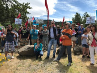 Mosier rally at the river