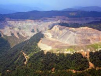 Mountaintop removal mining in West Virginia