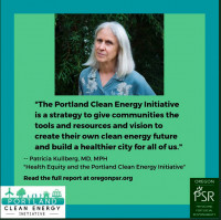 Dr Kullberg advocates Portland Clean Energy Fund