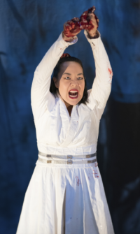 the ghost of Dou Yi (Jessica Ko) Photo by Jenny Graham, Oregon Shakespeare Festival.