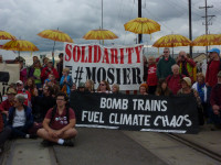 Oil Train Protest on BNSF Tracks in Vancouver, WA